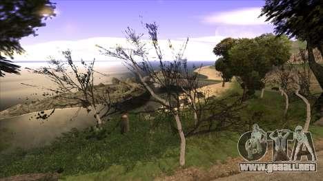 La construcción del puente, y el denso bosque para GTA San Andreas quinta pantalla