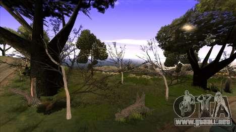 La construcción del puente, y el denso bosque para GTA San Andreas tercera pantalla