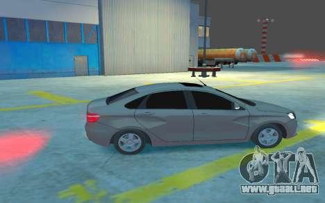 Lada Vesta para GTA 4 vista hacia atrás