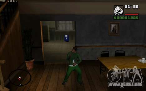 CJ Animation ped para GTA San Andreas novena de pantalla