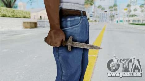 Skyrim Iron Dager para GTA San Andreas tercera pantalla