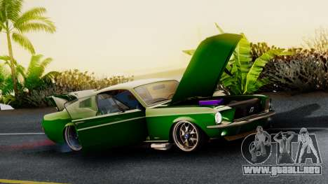 Ford Mustang Fast_back para GTA San Andreas vista posterior izquierda