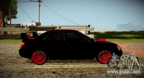 Subaru Impreza WRX STi Bestia Negra Japón para la visión correcta GTA San Andreas