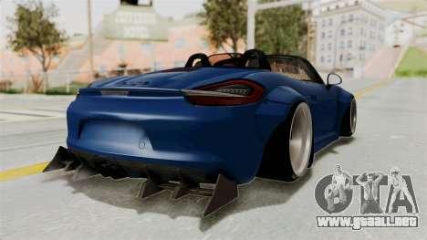 Porsche Boxster Liberty Walk para GTA San Andreas vista posterior izquierda