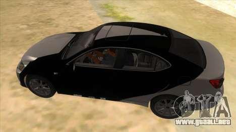 Lexus ISF para vista inferior GTA San Andreas