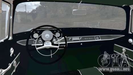 GTA 5 Chevrolet Bel Air Sport Coupe 1957 v1.5 vista lateral trasera derecha