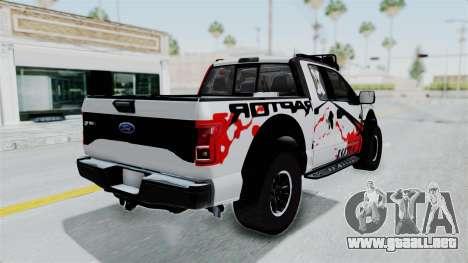 Ford F-150 Raptor 2015 para GTA San Andreas left