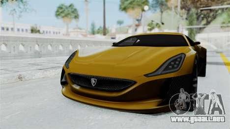 Rimac Concept One para GTA San Andreas