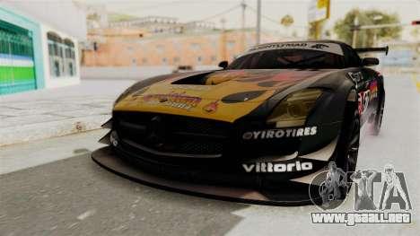Mercedes-Benz SLS AMG GT3 PJ1 para vista lateral GTA San Andreas