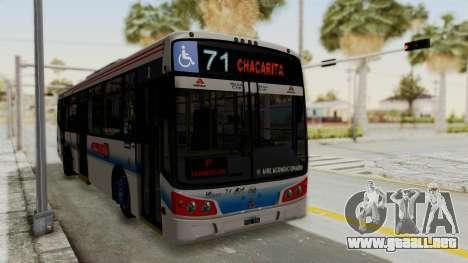 Todo Bus Pompeya II Agrale MT15 Linea 71 para la visión correcta GTA San Andreas