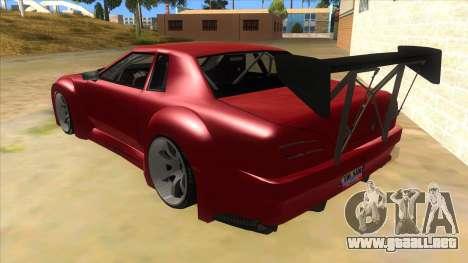 Elegy Tio Sam Style para GTA San Andreas vista posterior izquierda