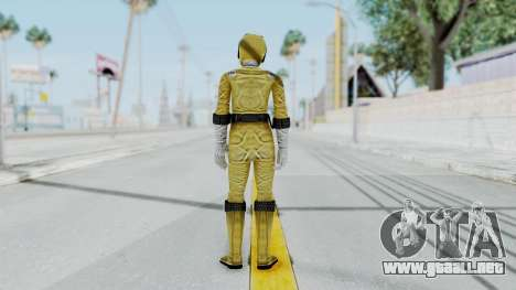 Power Rangers RPM - Yellow para GTA San Andreas tercera pantalla