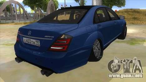 Mercedes-Benz S65 Rus Stance para la visión correcta GTA San Andreas