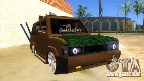 Toyota Kijang Grand Extra Full para GTA San Andreas vista hacia atrás