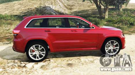 GTA 5 Jeep Grand Cherokee SRT-8 2015 v1.1 vista lateral izquierda