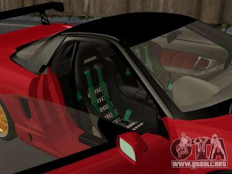 Honda NSX (NA1) Time Attack para la vista superior GTA San Andreas