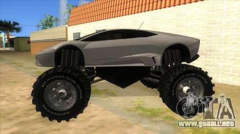 Lamborghini Reventon Monster Truck para GTA San Andreas left