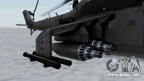 Mi-24V Russian Air Force 39 para GTA San Andreas left