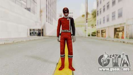 Power Rangers S.P.D - Red para GTA San Andreas segunda pantalla