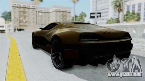 Rimac Concept One para GTA San Andreas left