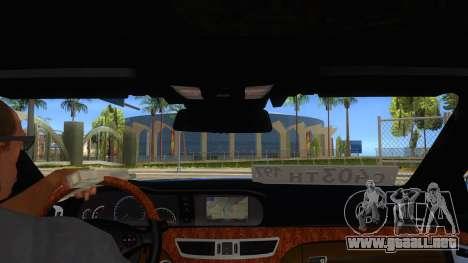Mercedes-Benz S65 Rus Stance para visión interna GTA San Andreas