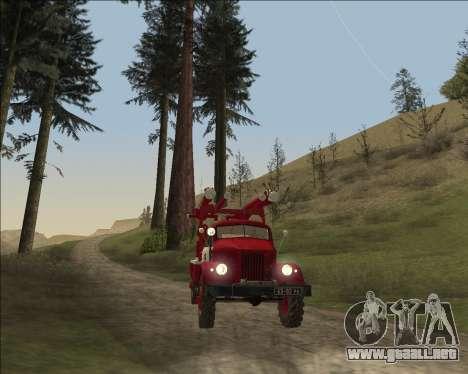 GAS 63 APG-14 camión de Bomberos para GTA San Andreas vista hacia atrás