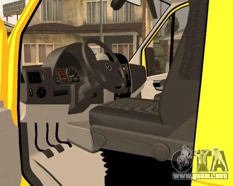 Mersedes-Benz Sprinter Towtruck para GTA San Andreas vista posterior izquierda