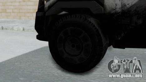 Advanced Warfare Tactical Pickup para GTA San Andreas vista posterior izquierda