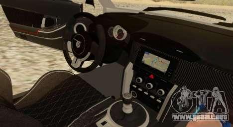 Infernus para visión interna GTA San Andreas