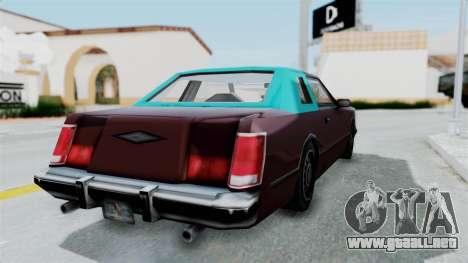 Beta VC Cougar para GTA San Andreas left
