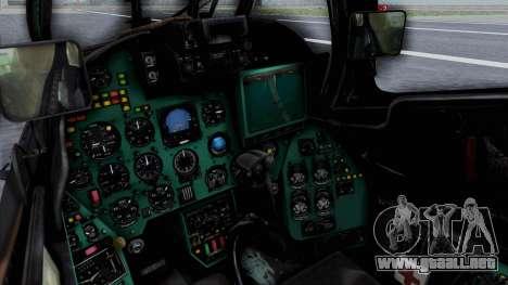 Mi-24V Russian Air Force 39 para la visión correcta GTA San Andreas