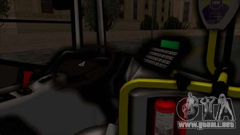 Todo Bus Pompeya II Agrale MT15 Linea 71 para visión interna GTA San Andreas