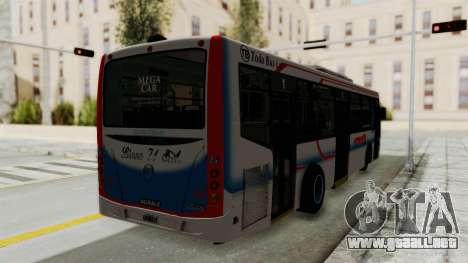 Todo Bus Pompeya II Agrale MT15 Linea 71 para GTA San Andreas vista posterior izquierda