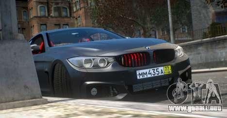 BMW 435i Coupe para GTA 4 visión correcta