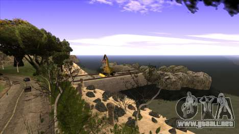 La construcción del puente, y el denso bosque para GTA San Andreas novena de pantalla