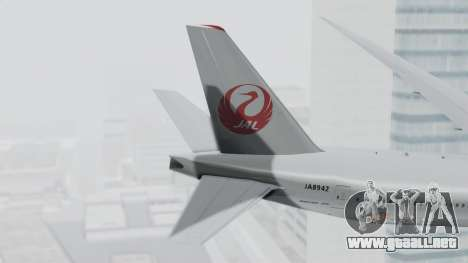 Boeing 777-9X Japan Airlines para GTA San Andreas vista posterior izquierda