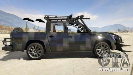 GTA 5 Volkswagen Amarok Apocalypse vista lateral izquierda