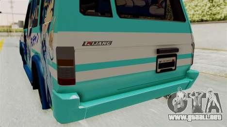 Toyota Kijang Grand Extra Itasha para la vista superior GTA San Andreas