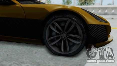 Rimac Concept One para GTA San Andreas vista hacia atrás
