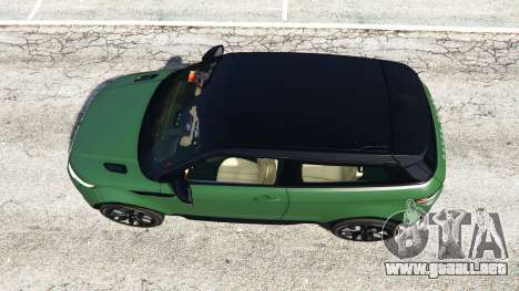 GTA 5 Range Rover Evoque v2.0 vista trasera