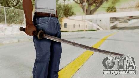 Skyrim Iron Wakizashi para GTA San Andreas tercera pantalla