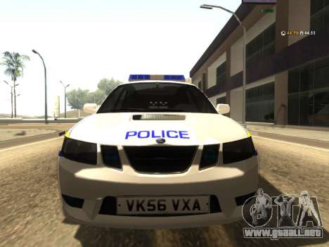 SAAB 9-2 Aero Turbo Generic UK Police para GTA San Andreas left