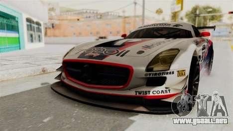 Mercedes-Benz SLS AMG GT3 PJ1 para el motor de GTA San Andreas