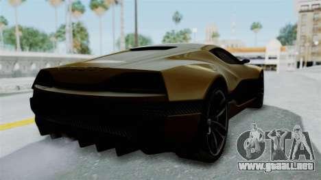 Rimac Concept One para GTA San Andreas vista posterior izquierda