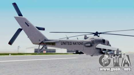 Mi-24V United Nations 032 para GTA San Andreas left