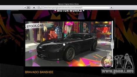 GTA 5 El cuerpo de la tienda de benny en el modo indiv segunda captura de pantalla