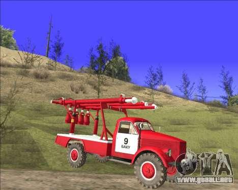GAS 63 APG-14 camión de Bomberos para GTA San Andreas left