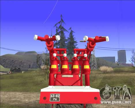 GAS 63 APG-14 camión de Bomberos para la visión correcta GTA San Andreas