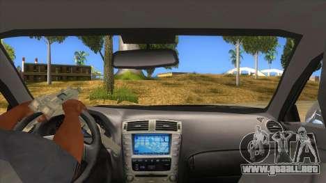 Lexus ISF para visión interna GTA San Andreas