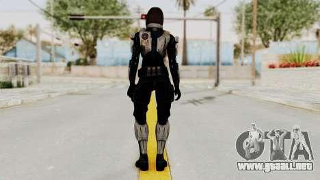 Mass Effect 3 Miranda Short Hair Ajax Armor para GTA San Andreas tercera pantalla